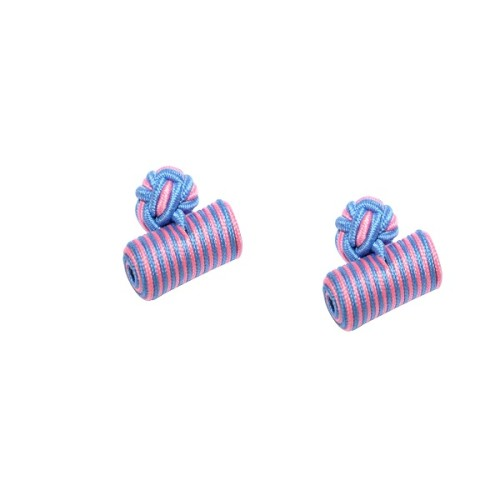 Blue & Pink Barrel Cufflinks 3