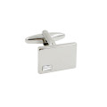 Diamante Silver Stone Cufflinks For Groom 3