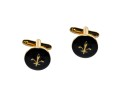 Gold on Black Cufflinks 2