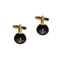 Gold on Black Cufflinks 3