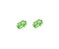 Green & White Sphere Cufflinks 2