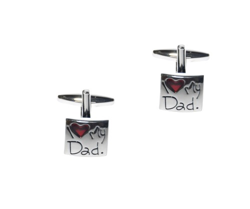 I Love My Dad Cufflinks 1