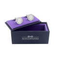 Inner Circle Silver Cufflinks Wedding Cuff Links 4