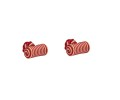 Pink & White Barrel Cufflinks 2