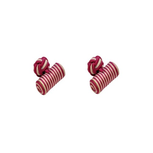 Pink & White Barrel Cufflinks 3