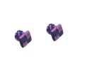 Purple & Navy Blue Square Cufflinks 1