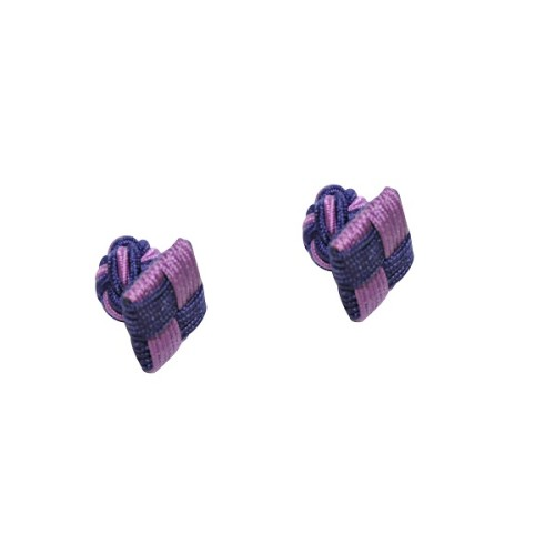 Purple & Navy Blue Square Cufflinks 3