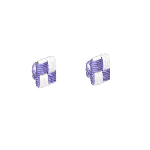 Purple & White Square Cufflinks 3