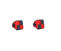 Red & Navy Blue Square Cufflinks 2