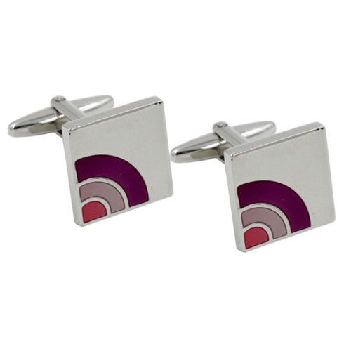 Semi Purple Cufflinks 1