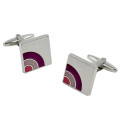 Semi Purple Cufflinks 2