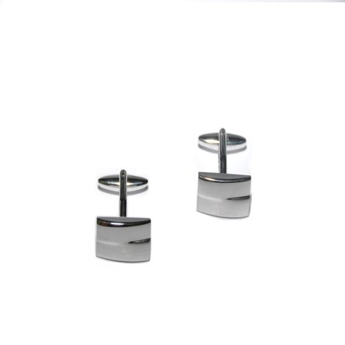 Silver Sleek Cufflinks 3