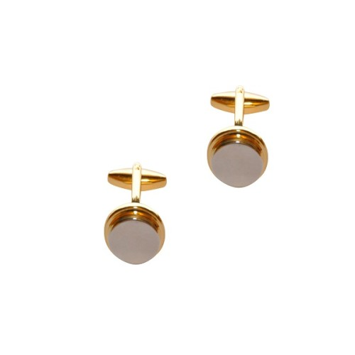 Golden Silver Cufflinks