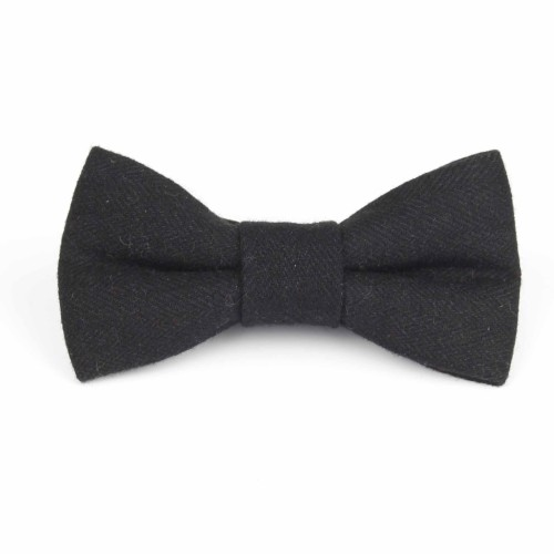 Black Tweed Bow Tie