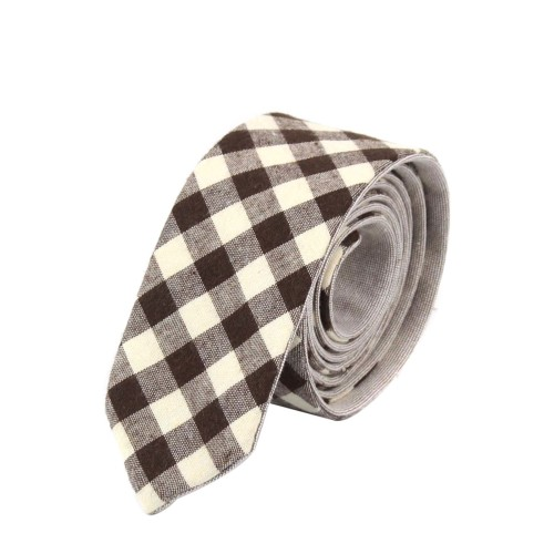 Brown Stripe Bow Tie