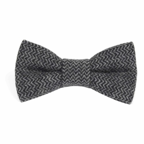 Grey with Black Bow Tie