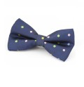 Navy Blue Spotty Colour Blue Bow Tie