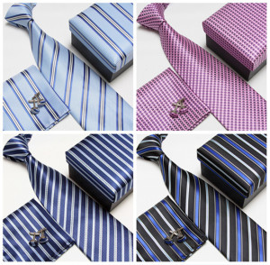 Men Cufflinks, Ties and Pocket Squares