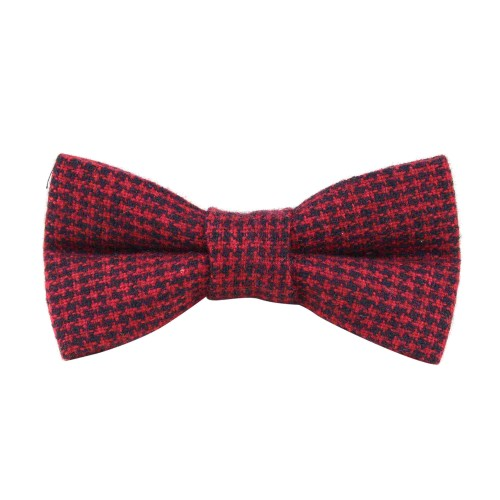 Red Black Houndstooth Bow Tie