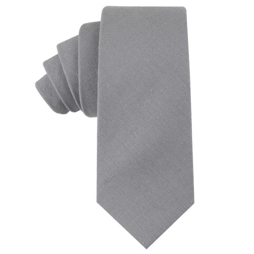 Grey Skinny Tie For Men Wedding Ties