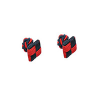 red navy blue square cufflinks