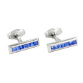 Blue Slim Cufflinks