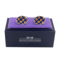 Orange Navy Cufflinks
