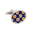 Oval Orange Cufflinks