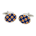 Ladybug Orange Navy Cufflinks