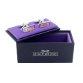 Pink Cufflinks Gift Box Wedding