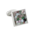 Square Multi Colored Cufflinks