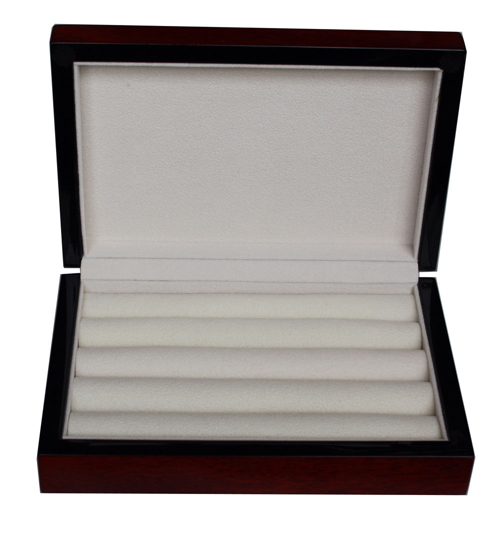 15 pair real wood cufflinks box - Cufflink Box