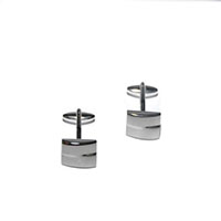 silver sleek cufflinks