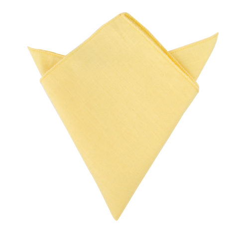 Yellow Pocket Square for Groomsmen