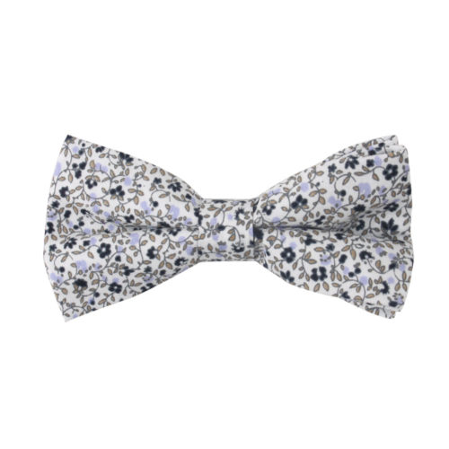 Black Floral Bow Tie for Groomsmen