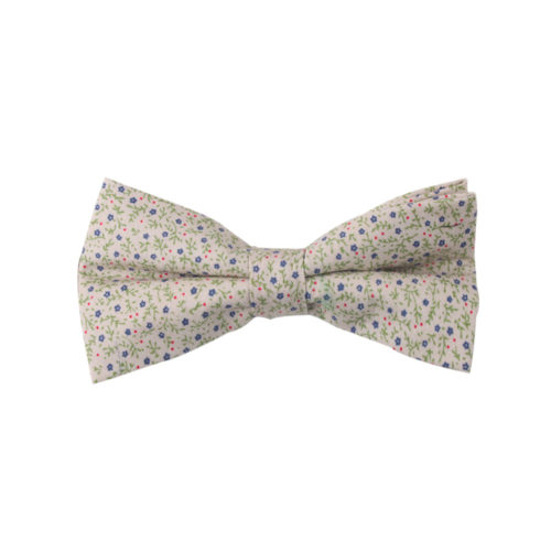 Blue Forget-Me-Nots Floral Bow Ties for Weddings