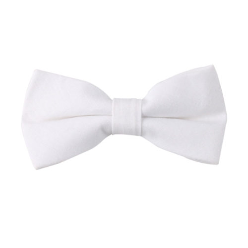 Classic White Bow Ties for Men