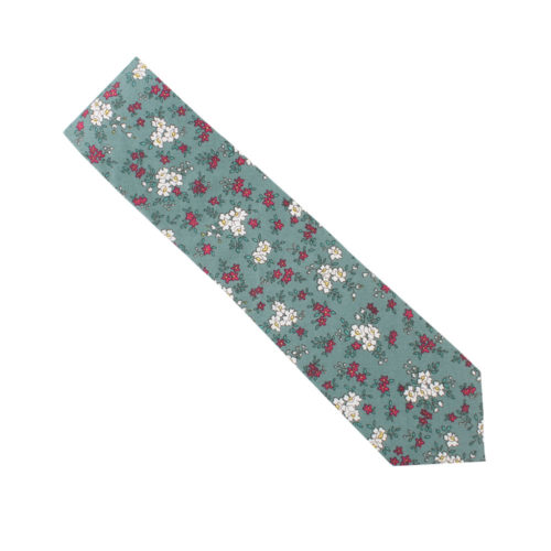 Blue White Pink Floral Ties Mellbourne