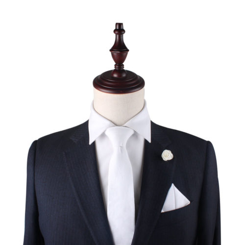 Classic White Tie and Pocket Square Set Groomsmen Online