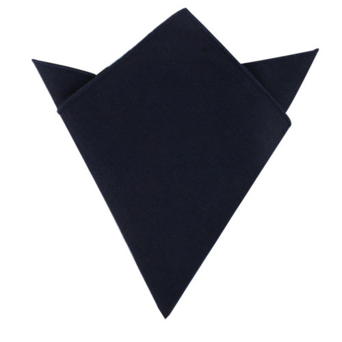 Dark Forest Navy Pocket Square Wedding