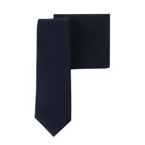 Dark Forest Navy Tie & Pocket Square Combo Online Melbourne