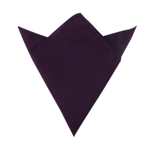 Dark Purple Pocket Square for Men