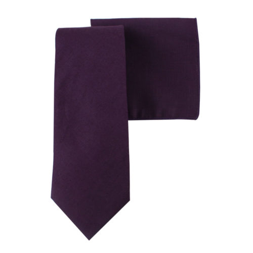 Dark Purple Tie and Pocket Square Sets Online