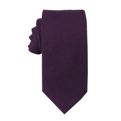 Dark Purple Ties Groomsmen Grooms