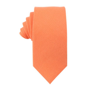 Peach Orange Tie For Men