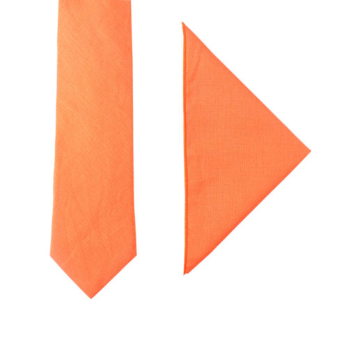 Peach Orange Tie & Pocket Square Combos