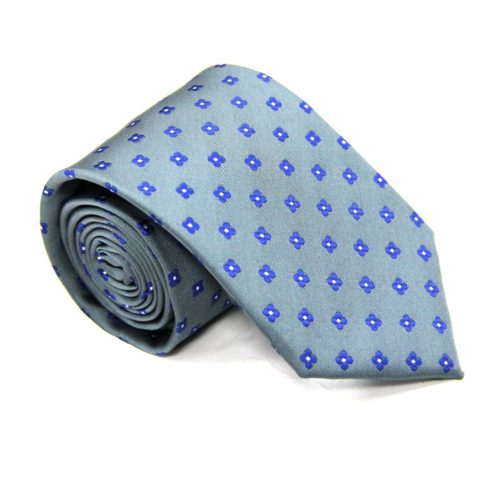 Blue Flower Grey Tie for Men Ties Online