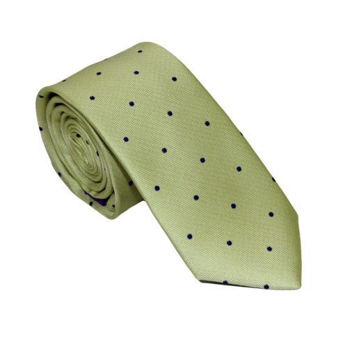 Navy Polka Dot Gold Tie for Groomsmen Australia