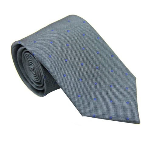 Navy Polka Dot Grey Tie for Groomsmen Australia Melbourne