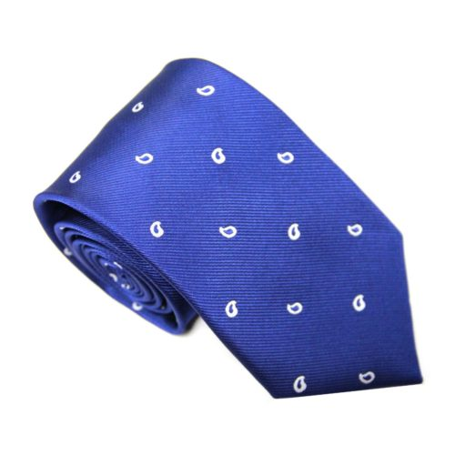 Navy Tear Drop Skinny Tie for Men